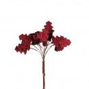 Holz Baum Glitzer am Draht, D3cm, rot